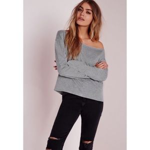 Missguided Grey Cropped Sweater
